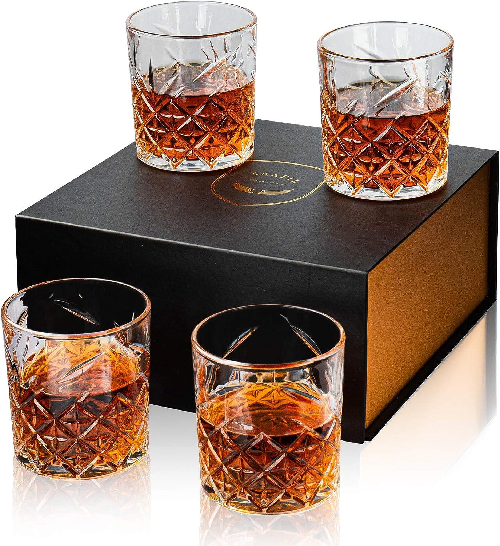 Skafil Old Fashioned Whiskey Glasses Set Glas of Crystal Wholesale 4 Direct sale manufacturer Rocks