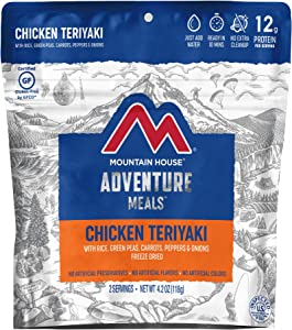 Mountain House Chicken Teriyaki with Rice | Freeze Dried Backpacking & Camping Food | 2 Servings | Gluten-Free