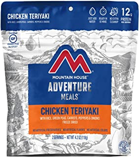 Mountain House Chicken Teriyaki with Rice | Freeze Dried Backpacking & Camping Food | Gluten-Free