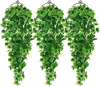 گیاهان آویز مصنوعی AGEOMET 3pcs Plane Ivy Vine، Fake Hanging Plants Vine Plants گیاهان آشپزخانه برای دیوار خانه اتاق داخلی دکوراسیون فضای باز
