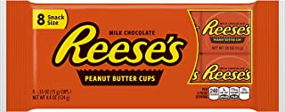 REESE'S Peanut Butter Cups, Chocolate Candy, Snack Size, 8 Count