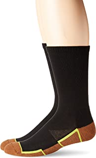 Copper Sole Men's 2 Pack Athletic Crew Socks