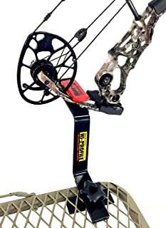 Bow Buddy Bow Hanger   Hang-On Buddy Treestand Bow Holder Removable with Rubber Grip Compound Bow Holder for Archery Hunting