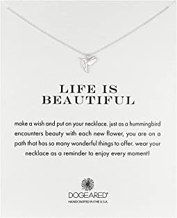 Dogeared - Life is Beautiful Hummingbird Reminder