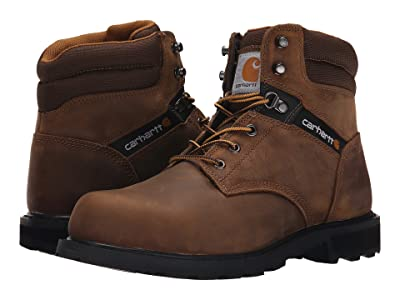 Carhartt Traditional Welt 6 Steel Toe Work Boot (Crazy Horse Brown Leather) Men