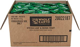 Whole Earth Sweetener Co. Stevia and Monk Fruit Sweetener, Erythritol Sweetener, Sugar Substitute, Zero Calorie Sweetener,...
