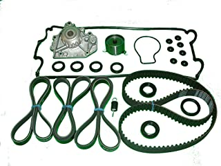 TBK Timing Belt Kit Replacement For Honda CRV 1997 to 2001 Includes NPW of Japan water pump, Bando timing belt and drive belts, Koyo tensioner factory spring and Japanese made seal and valve cover set