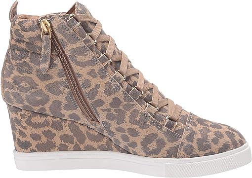 Gold Leopard Split Suede