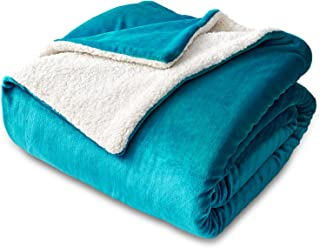Bedsure Sherpa Fleece Blanket Twin Size Teal Plush Throw Blanket Fuzzy Soft Blanket Microfiber