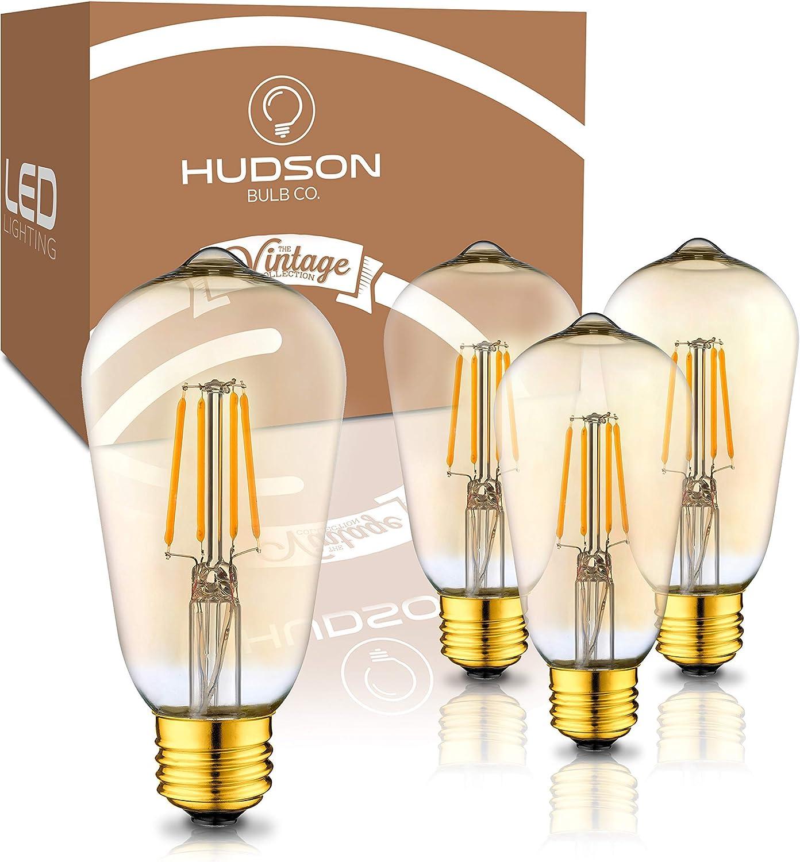 low-pricing Vintage LED Edison Light Bulbs: Popular standard 4 Watt - 2200K Lightbulbs Warm