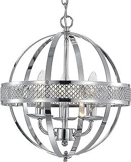 MO&OK chandelier industrial globe chandeliers lights 3-light Chrome lighting fixture