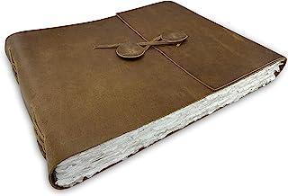 Journal de Scrapbooking Aquarelle en Cuir Wanderings - Grand Album en Cuir Véritable Avec Papier de Bord Deckle Fait à la ...