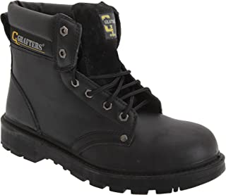 Grafters Mens Apprentice 6 Eye Safety Toe Cap Boots
