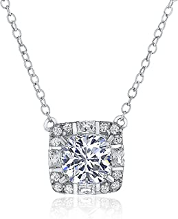 Montage Jewelry Women's Cushion Cubic Zirconia & Sterling Silver Chain Necklace