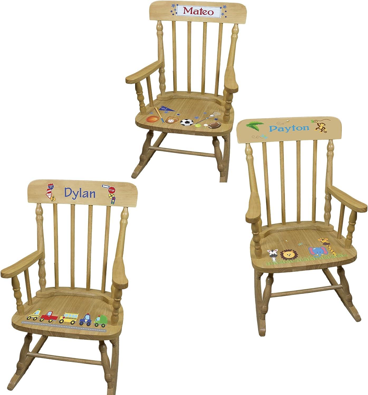 Popular brand Personalized Boys Wooden Alternative dealer Rocking Chair
