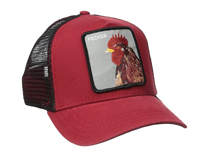 Goorin Brothers  Animal Farm Snap Back Trucker Hat (Red Plucker) Caps