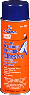 Permatex 27828-6PK Body Shop Heavy Duty Headliner and Carpet Adhesive, 16.75 oz Aerosol Can (Pack of 6)