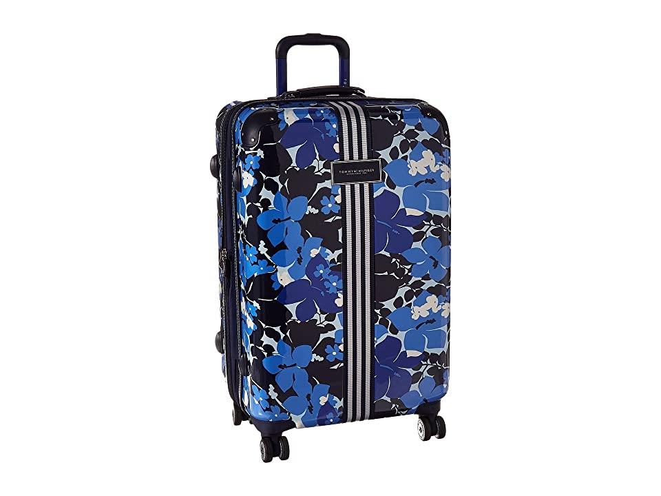 Tommy Hilfiger Floral 25 Upright Suitcase (Blue) Carry on Luggage