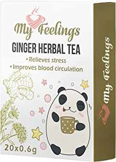My Feelings - Té de hierbas de jengibre. Extracto en polvo (20 sticks de 0,6 g / 0,4 oz)