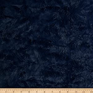 "Shannon Fabrics""""Shannon Minky Luxe Cuddle Marble, Navy"