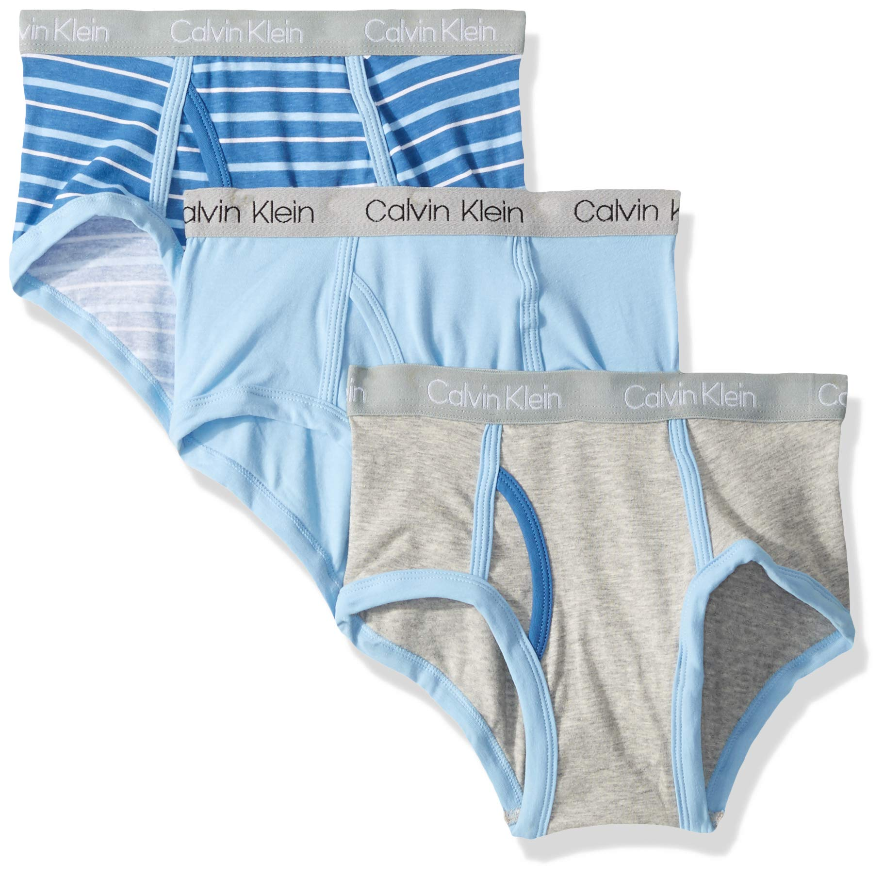 Calvin Klein 男孩 Core 经典3件装棉质 span 三角裤