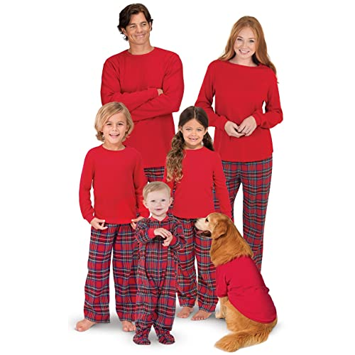 3594cc4bee PajamaGram Family Christmas Pajamas Set - Cotton Flannel