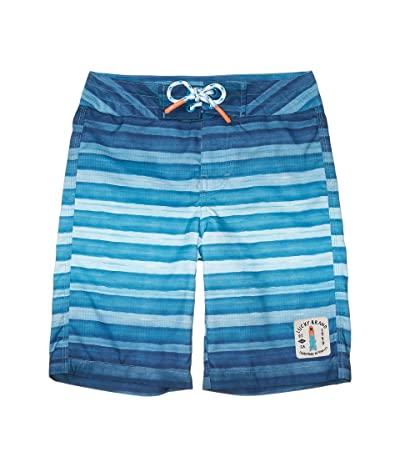 Lucky Brand Kids Ombre Stripe Boardshorts (Big Kids) (Bachelor Button) Boy