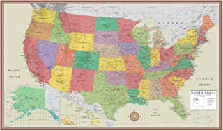 24x36 United States, USA Contemporary Elite Wall Map Poster (24x36 LAMINATED)