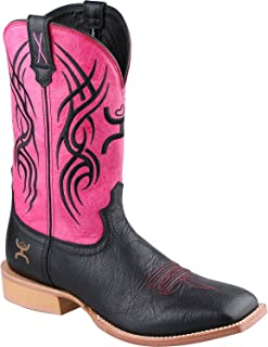 92901f741147 Twisted X Men s Hooey Leather Western Boot Wide Square Toe