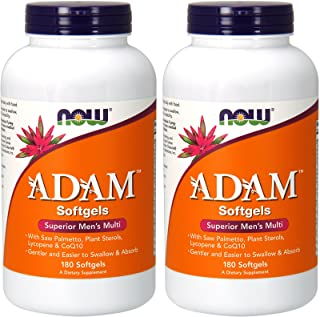 NOW Foods ADAM Men's Multiple Vitamin, 180 Softgel (2 Pack)