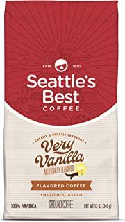 Seattle's Best Coffee Very Vanilla Flavored Medium Roast Ground Coffee, 12-Ounce Bags