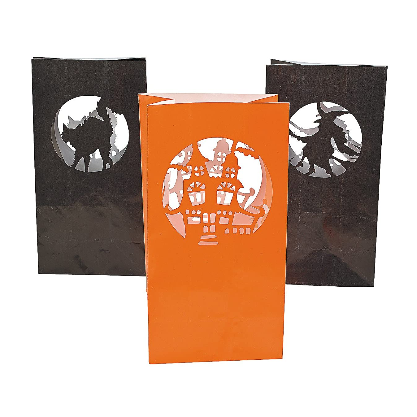 Halloween Silhouette Luminary Bags - Party Decorations & Party Lanterns,12 pcs