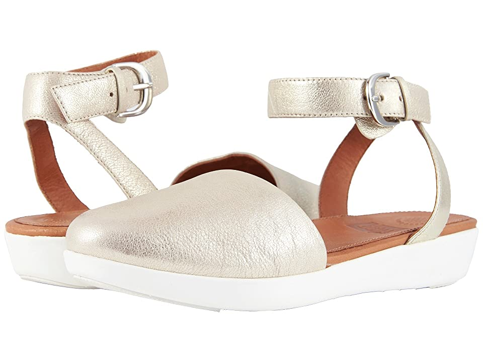FitFlop Cova Closed Toe Sandals (Metallic Silver) Women