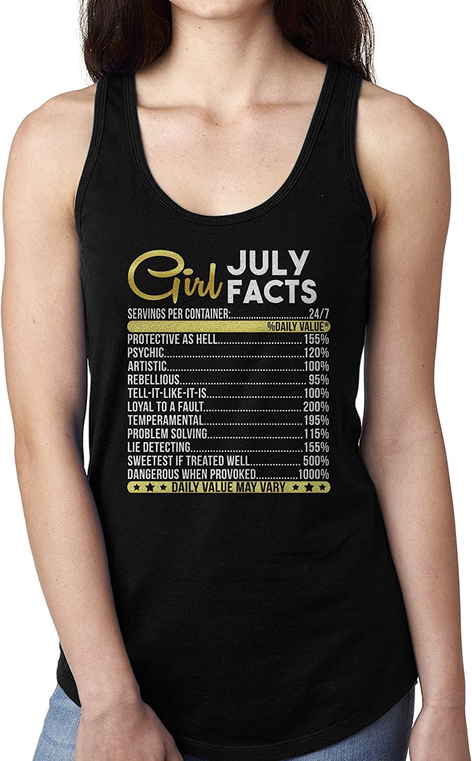 Womens July Girl Facts July Birthday Gift T-shirt