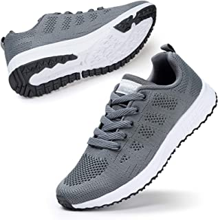 Walking Shoes for Women Casual Lace Up Lightweight Tennis Running Shoes