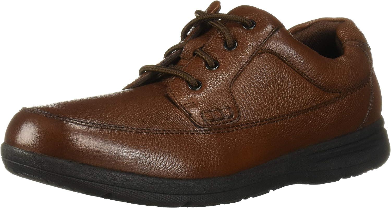 Nunn Bush Men Cam Oxford Casual Walking shoes Lace Up, Cognac, 8