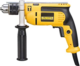 DEWALT 750W 13mm percussion drill with variable speed switch for Drilling Concrete Metal Wood. with Kit Box, Yellow/Black,...