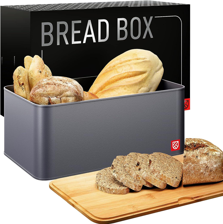 Bread Box with Bamboo Lid Memphis Mall - Metal B Countertop Kensington Deluxe London