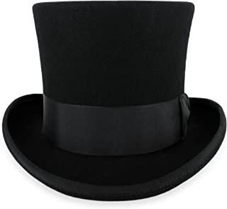 Belfry Top Hat Theater Quality 100% Wool in Black Grey or Pearl