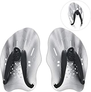 Contour Swim Paddles Hand, Swim Training Hand Paddles with Adjustable Straps, Swimming Hand Paddles for Women and Men