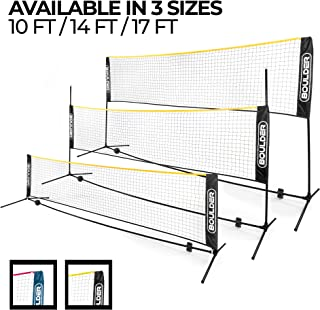 Boulder Portable Badminton Net Set – Net for Tennis, Soccer Tennis, Pickleball,..