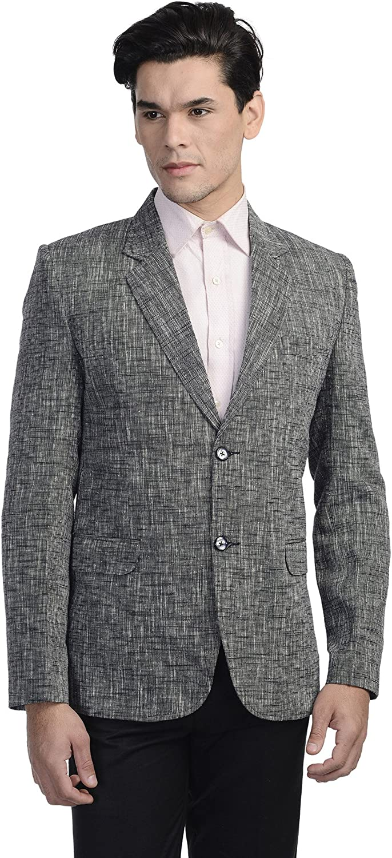 WINTAGE Men's Linen Tailored Fit Solid Evening/Casual Blazer Coat Jacket : Multiple Colors Inside