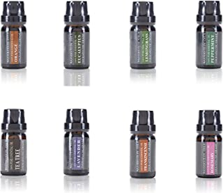 Sponsored Ad - Aromatherapy Oils 100% Pure Basic Essential Oil Gift Set by Wasserstein (Top 8, 10ml)