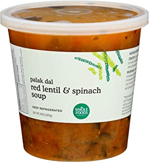 Whole Foods Market, Red Lentil Dal with Spinach Soup, 24 Ounce