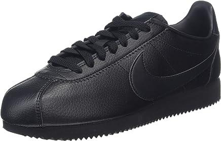 sale retailer ccb2f 17944 Nike Classic Cortez Leather, Men s Gymnastics Gymnastics Shoes, Black  (Black Black-