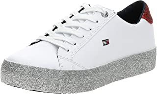 Tommy Hilfiger Corporate Crystal Dress Women Sneakers, White (White)