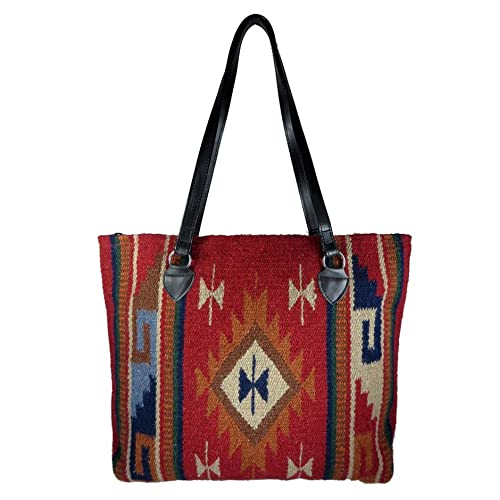 Southwest Boutique Wool Tote Purse Bag Native American Western Style  Handwoven 7e1f5806d6