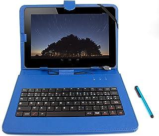 DURAGADGET Etui 7 Pouces Bleu + Clavier intégré AZERTY pour Tablette CDiscount CDisplay..