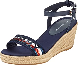 Tommy Hilfiger Tommy Sequins Mid Wedge Sandal, Tongs Femme