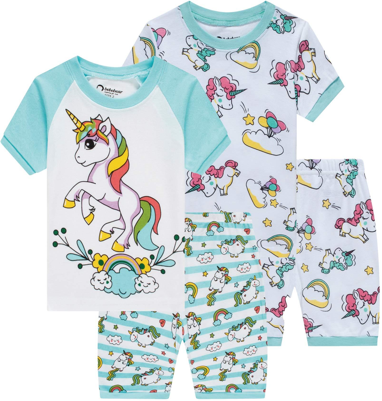 Little Girls Pajamas Baby Children Horse Pyjamas 100/% Cotton Pink Toddler Sleepwear